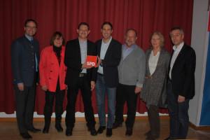 v.l. Andreas Magg, Uta Titze-Stecher, Martin Eberl, Michael Schrodi, Gerhard Wimmer, Gertrud Merkert, Norbert Seidl