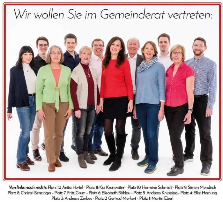 Gemeinderatswahl 2020: unsere Spitzenkandidaten